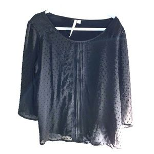 LC sheer black blouse